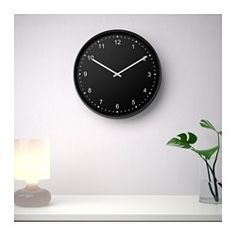 IKEA - BONDIS, Wall clock, Highly accurate at keeping time as it is fitted with a quartz movement.No disturbing ticking sounds since the clock has a silent quartz movement.