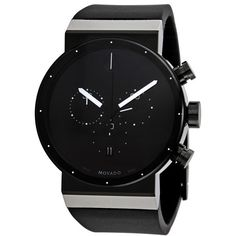MovadoSapphire Synergy Black Dial Chronograph Men's Watch