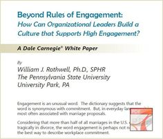 Employee Engagement White Paper by Dale Carnegie Training - Download Free
