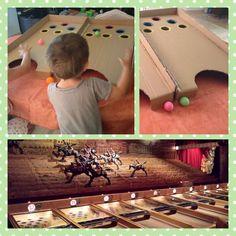 Le tiercé Vous connaissez peut-être ce célèbre jeu de fête foraine, sur la photo, en bas, celui du Musée des Arts Forrains. Il s'agit d'envoyer une balle dans des cercles de couleurs di…