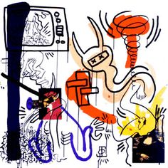 "Keith Haring ""Apocalypse"" 1988 38x38"" Text: William S Burroughs edition of 90 American born May 04, 1958 - Feb 16, 1990"