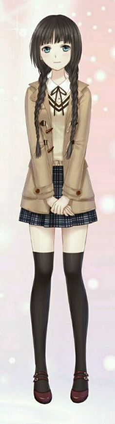 Anime school girl outfit
