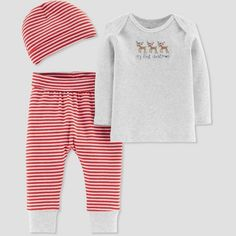 7c13154bfdf Baby s Knit Christmas Set - Just One You made by Carter s Gray Newborn  Gender  Unisex. Baby s Knit Christmas Set - Just One You made by Carter s  Gray ...