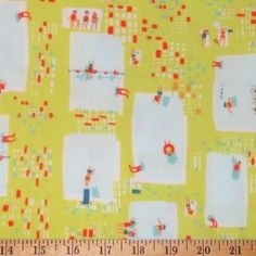 This is fabric designed by Heather Ross for Munki Munki called pool side.  I love it, but it's so expensive and rare, I'll doubt I'll ever have any.