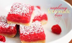 raspberry-lemonade-bars by sophistimom - remembering this recipe when we pick raspberries late summer