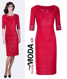 Červené originálne šaty pre moletky - trendymoda.sk Dresses For Work, Formal Dresses, Bodycon Dress, Fashion, Dresses For Formal, Moda, Body Con, Formal Gowns, Fashion Styles