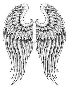 Hand gezeichneten Engel Flügel