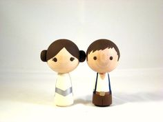 Figuritas de Leia y Han Solo... I'm loving it! ;)