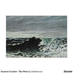 Shop Gustave Courbet - The Wave Poster created by Goldentrove. Custom Posters, Art Posters, Gustave Courbet, Art Store, French Artists, Store Design, Art For Sale, Custom Framing, Art Pieces