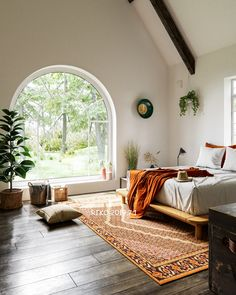 Forest bedroom on Behance Forest Bedroom, Adobe House, Natural Interior, Inspiration Wall, Baby Room Decor, Living Room Kitchen, Beautiful Interiors, Cozy House, Cgi