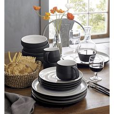 18th Street 16-Piece Dinnerware Set | Crate and Barrel