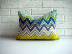 from HabitationBoheme on Etsy.    chevron pillow