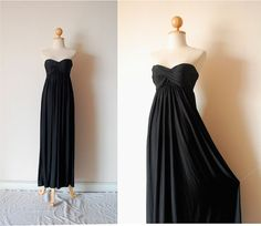 Elegant Black Evening Dress by pinksandcloset on Etsy, $55.00