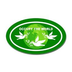Occupy Wall Street: Sticker (Oval)    Oval Bumper Sticker from Occupy Wall Street Shop