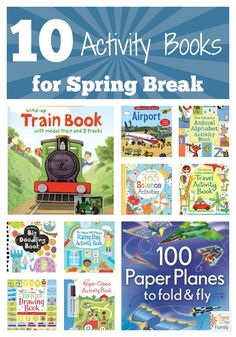 10 Awesome Activity Books for Kids. Perfect to help keep kids entertained over Spring Break.