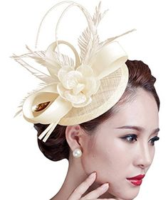 Sinamay Fascinator Hat Feather Party Pillbox Hat Flower D... https://www.amazon.com/dp/B018LDDE64/ref=cm_sw_r_pi_dp_HhYCxbKTE137B