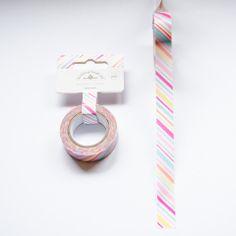 Candy Stripes  Washi Tape. Sugar Shoppe Collection.