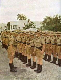 DAK soldiers in line.