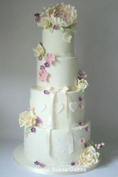 Flowers & Hearts cake
