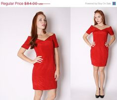 ON SALE 40 OFF  Red Party Dress  Body Con Dress  by aiseirigh, $50.40