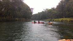 Paddling at Oyo river, Yogyakarta