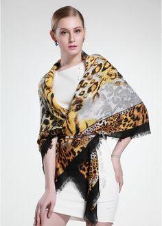 Tiger Baumwolle Schal von JAWFASHION auf DaWanda.com