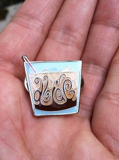The Big Lebowski - Abide - White Russian Pin. $15.00, via Etsy.
