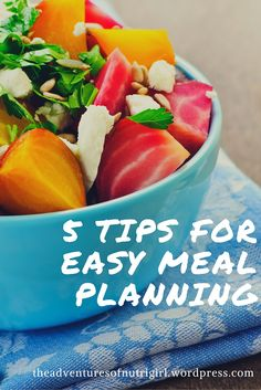 Here's my top 5 tips to make meal-planning easier!  Check the freezer and pantry first: Ok seriously, I can't be the only person who throws bags of fruit or random meat that's on …