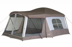"""The Wenzel Klondike family camping Tent is the top-selling family tent that family campers are really buying! """"Big Room"""" design makes this tent a great choice for casual relaxed camping. Best Family Camping Tents, Camping Gear, Outdoor Camping, Camping Hacks, Camping Cabins, Camping Checklist, Camping Stuff, Camping Packing, Camping Glamping"""
