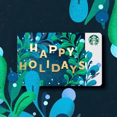 Holiday Issue Starbucks Card It/'s On Me This Time 2014 New /& Never Swiped