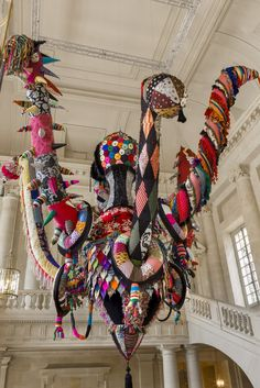joana vasconcelos, art, fibers, textile, colorful, chandelier, baroque, mary poppins