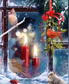 Holiday Quotes Christmas, Happy Christmas Wishes, Its Christmas Eve, Merry Christmas Images, Vintage Christmas Images, Magical Christmas, Christmas Scenes, Christmas Candles, Christmas Pictures