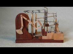 Marble Machine using Peaucellier's rotary to linear linkage machanism - YouTube