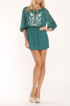 Meghan Felicity Tunic W/Slip In Emerald