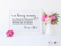 In Loving Memory Sign. Wedding Memorial Sign. Wedding Signs. Wedding Sign Printable. Wedding Memory Sign. In Memory of Wedding. Wedding Sign