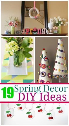 19 DIY Spring Decor Projects - Have fun with your kids making these crafts and then displaying them in your home.