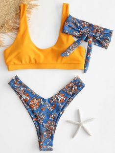 01cb77ac5 $5 off $50 Sale Special for New Users.ZAFUL Flower Bikini Set with Headband