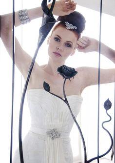 Karen Willis Holmes bridal collection.