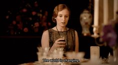 """Lady Edith (Laura Carmichael), really the only sensical one at the home, offers a realistic warning. 