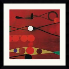 Bill Mead 'Red Seed #34' Framed Art Print
