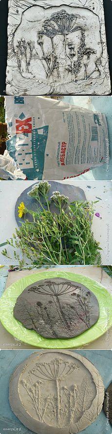 MK sobre as peças vazadas de gesso (pintura mural, folhas, ímãs) Parte 1 |  Mestres país