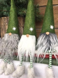 20 christmas gnome ornaments a quick, adorable craft 00004 * kebun. Christmas Knomes, Christmas Elf, Christmas Ornaments, Christmas 2019, Christmas Stockings, Christmas Sewing Projects, Holiday Crafts, Holiday Decor, Gnome Ornaments