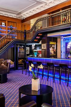 Hotel, Montreal.The neon-lit Botero Wine Bar offers expertly crafted martinis as well as top vintages. #Jetsetter