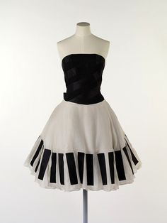The Piano Dress Karl Lagerfeld for Chanel 1980s