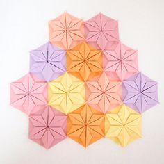 Origami Paper Mudular Origami Paper Mosaic Origami by KaoriCraft