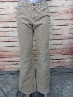 Ann Taylor LOFT corduroy pants boot cut womens size 6 beige  #AnnTaylorLOFT #Corduroys