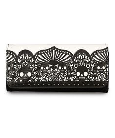Black & White Skull Wallet by Loungefly #zulily #zulilyfinds