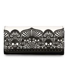 Black & White Skull Wallet by Loungefly #zulily #zulilyfinds