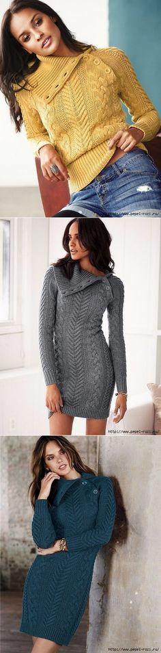 Арановое единство - оригинальное платье+свитер спицами!