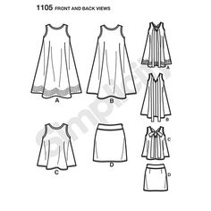 Simplicity Pattern 1105 Misses' Dresses Cynthia Rowley Collection